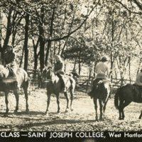 Riding Class, Saint Joseph College, West Hartford, Connecticut