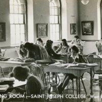 Reading Room, Saint Joseph College, West Hartford, Conn.